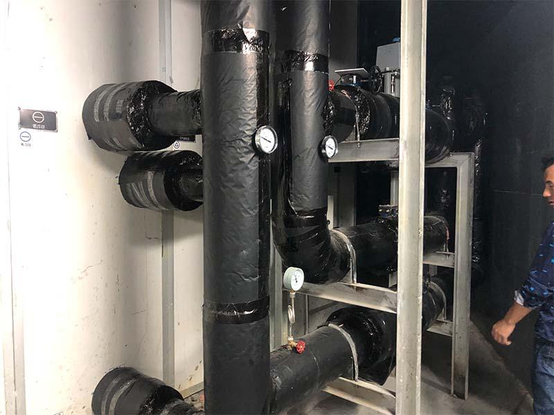 地铁站空调机组管道保温工程施工