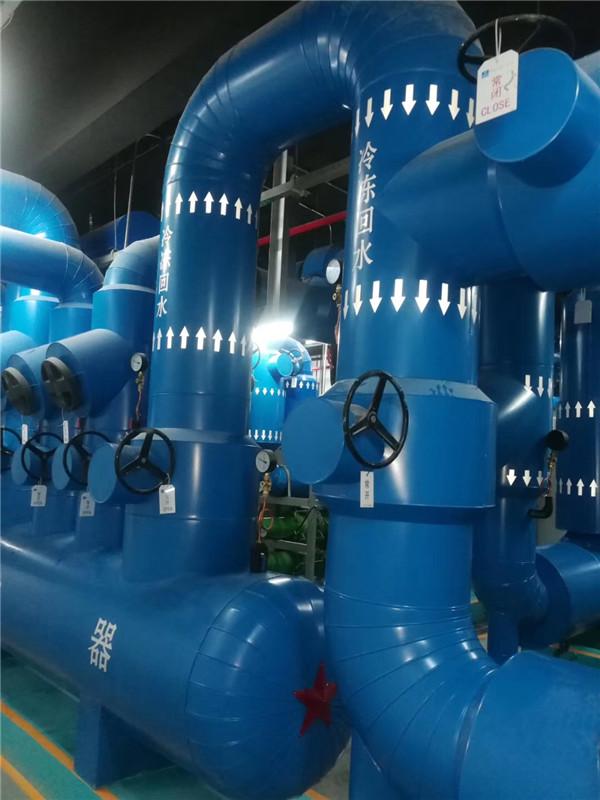 空调水管管道保温施工现场图,涛翔天管道保温施工队