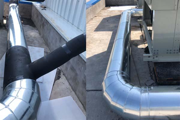成都空调模块机组保温铁皮施工