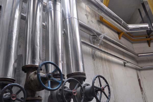蒸箱管保温_玻璃棉管_镜面不锈钢板保温