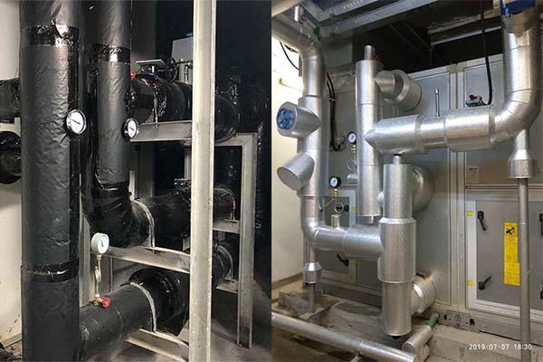 中央空调管道保温铁皮施工